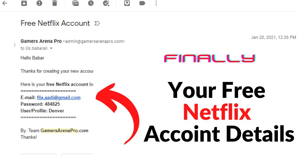 Free Netflix account details
