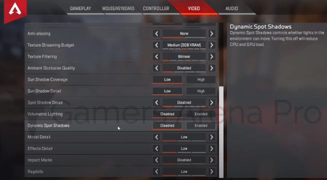 Apex Legends Best-advanced Settings for Video in 2021
