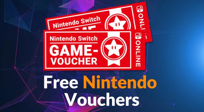 Free Nintendo game Vouchers