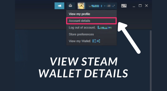 How do I view my Steam wallet?