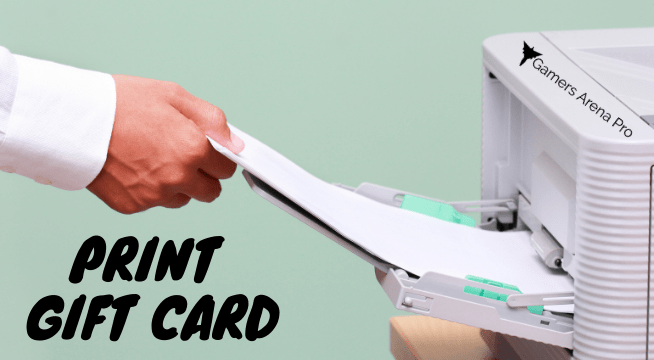 How to print the Amazon gift card