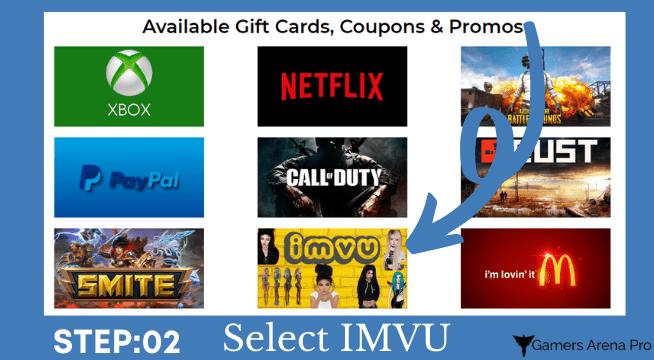 free IMVU Gift Card