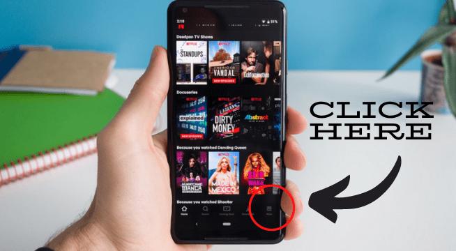 log out of Netflix