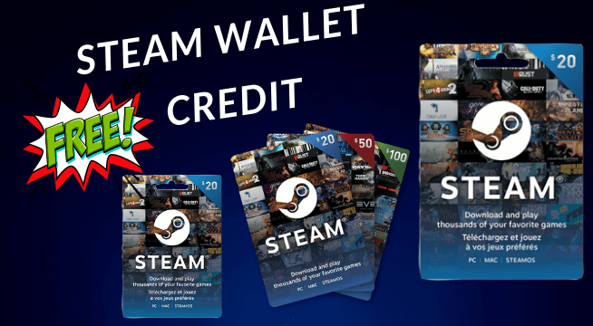steam wallet Free Credit