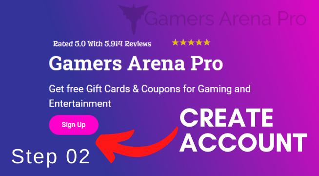 account create GamersArenaPro