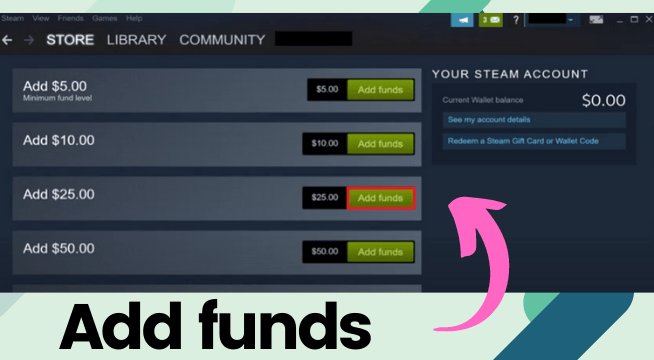 Funds To A Steam Wallet