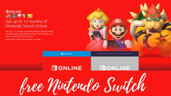 free Nintendo Switch