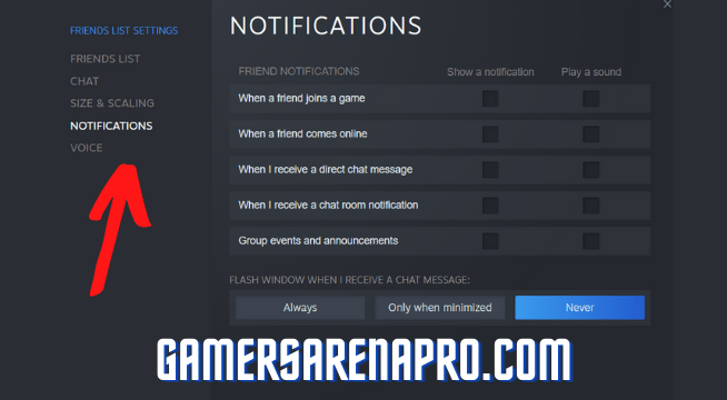 How to Turn Off Steam Notifications?